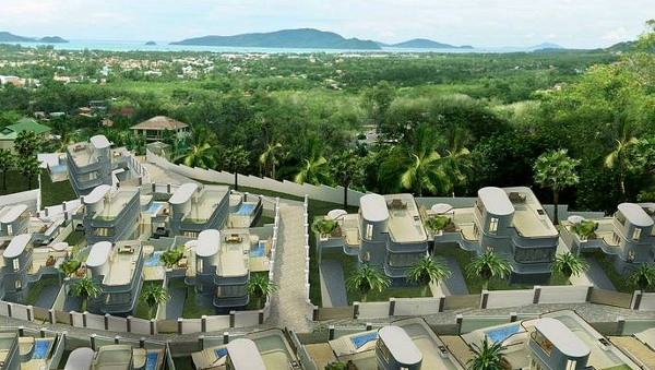 Baan Chalong Residence – 4-Bedroom Sea View Pool Villa – PRICE CUT