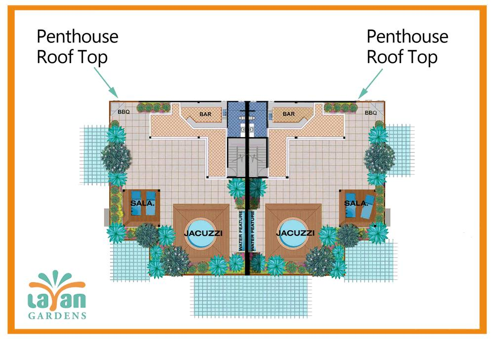 Penthouse Roof Top Plan