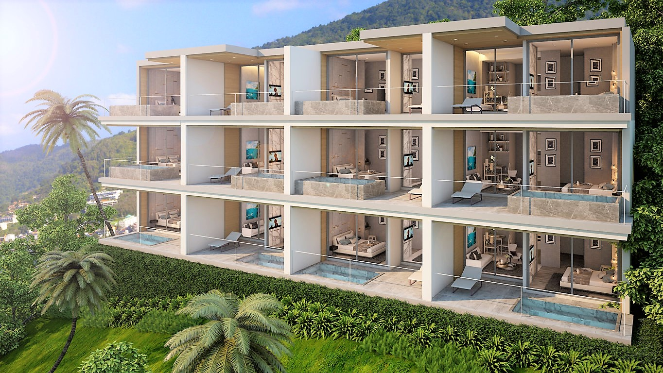 Patong Bay Sea View - New 1-Bedroom Sea View Apartments overlooking Patong Bay - IDEAL INVESTMENT