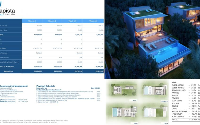 Modern 3-Bedroom Ocean View Villas at Yamu Hills