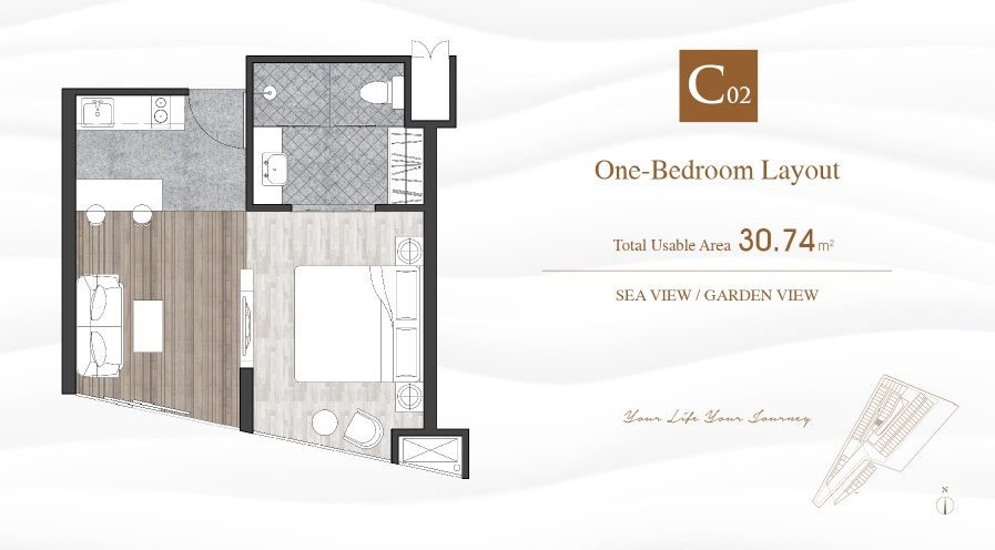 Typical One-Bedroom Layout