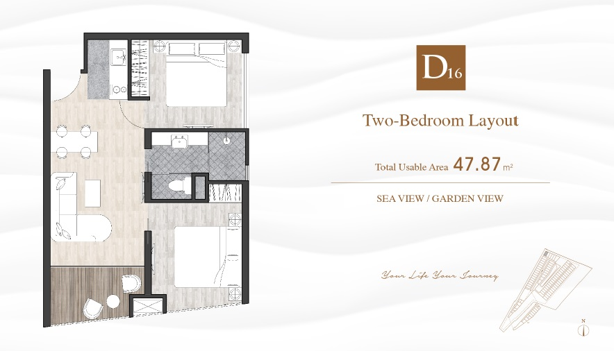 Typical Two-Bedroom Layout